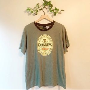 Vintage Inspired Guinness Green Graphic T-Shirt